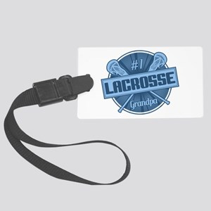 #1 Lacrosse Grandpa Luggage Tag