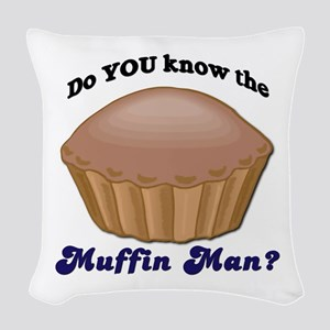 muffinman Woven Throw Pillow