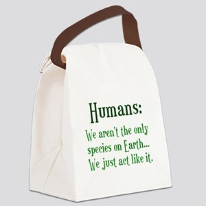 Humans Canvas Lunch Bag