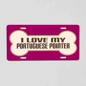 Portuguese Pointer Aluminum License Plate