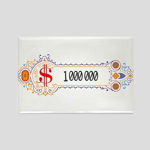 1 000 000 Dollars 2 Rectangle Magnet (10 pack)