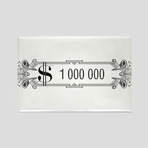1 000 000 Dollars 3 Rectangle Magnet (10 pack)