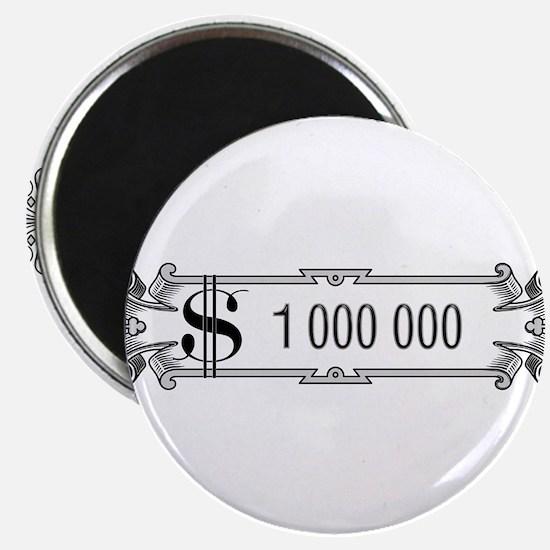 "1 000 000 Dollars 3 2.25"" Magnet (10 pack)"