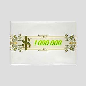 1 000 000 Dollars 4 Rectangle Magnet (10 pack)