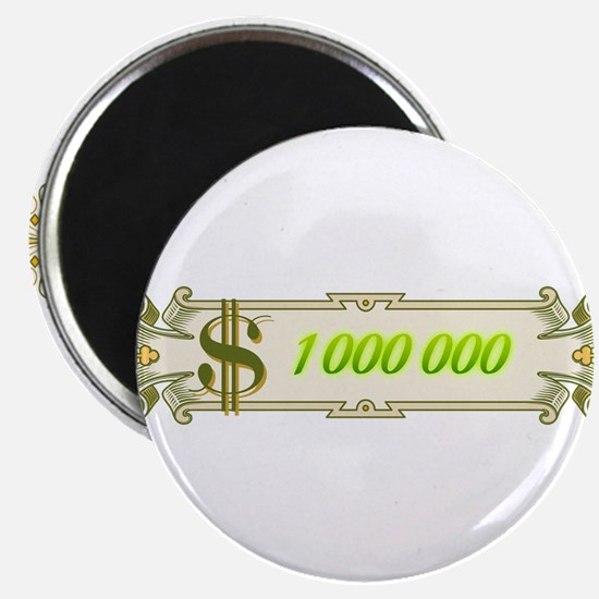 "1 000 000 Dollars 4 2.25"" Magnet (10 pack)"