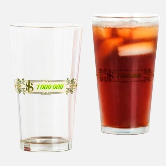 1 000 000 Dollars 4 Drinking Glass