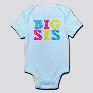 "Colorful ""Big Sis"" Infant Bodysuit"