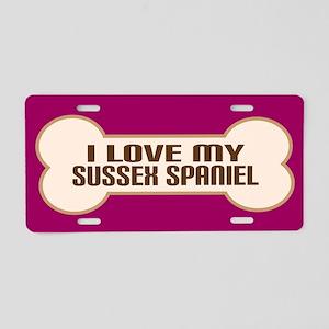 Sussex Spaniel Aluminum License Plate