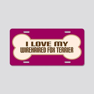 Wirehaired Fox Terrier Aluminum License Plate