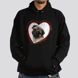Pug Paw Prints Hoodie