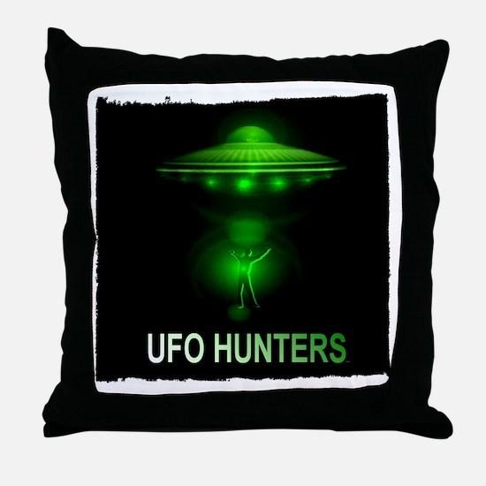 ufo hunters Throw Pillow