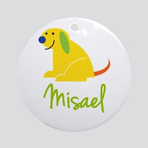 Misael Loves Puppies Ornament (Round)