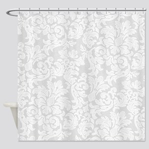 lace pattern - white light Shower Curtain
