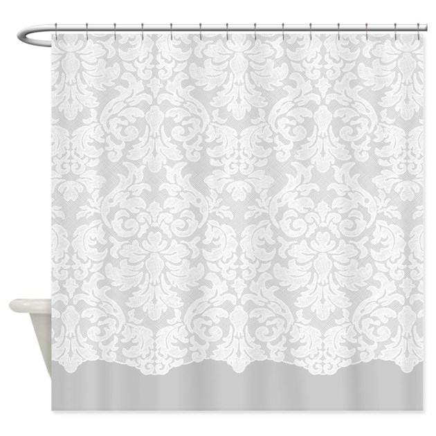 White Lace Shower Curtains | CafePress