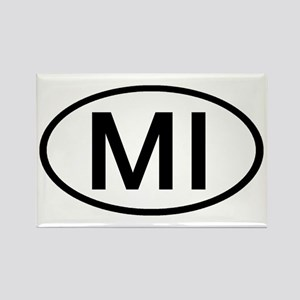 MI Oval - Michigan Rectangle Magnet