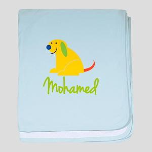 Mohamed Loves Puppies baby blanket