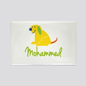 Mohammed Loves Puppies Rectangle Magnet