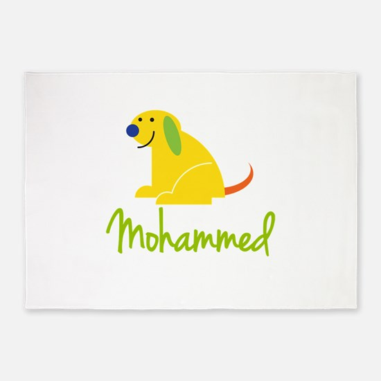 Mohammed Loves Puppies 5'x7'Area Rug