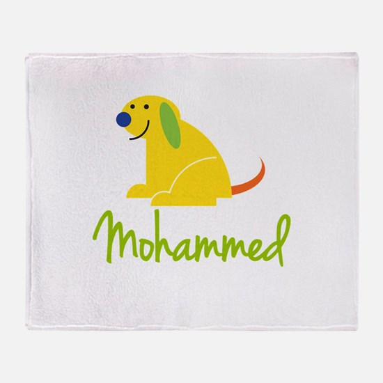 Mohammed Loves Puppies Throw Blanket