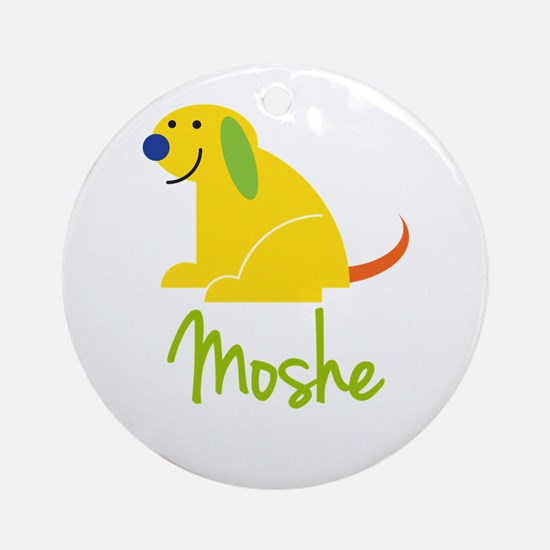 Moshe Loves Puppies Ornament (Round)