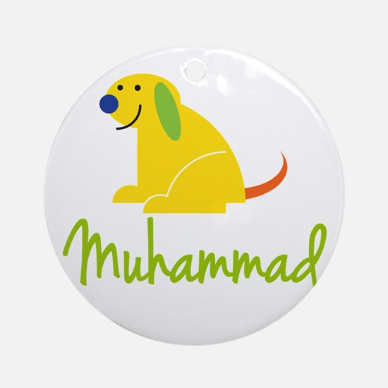 Muhammad Loves Puppies Ornament (Round)