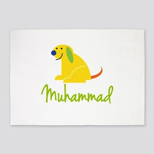 Muhammad Loves Puppies 5'x7'Area Rug