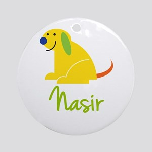 Nasir Loves Puppies Ornament (Round)