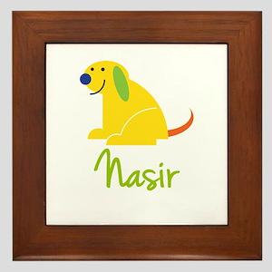 Nasir Loves Puppies Framed Tile