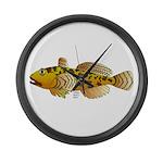 Pacific Sculpin fish Large Wall Clock