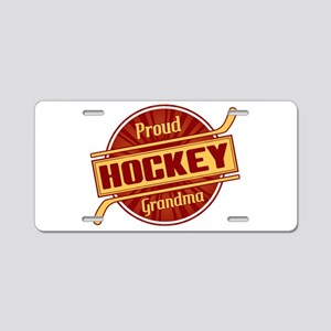 Proud Hockey Grandma Aluminum License Plate