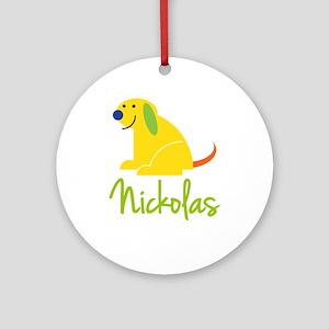 Nickolas Loves Puppies Ornament (Round)