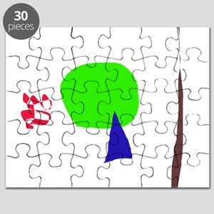 A Young Tree, a Dead Tree, and a Red Snake Puzzle