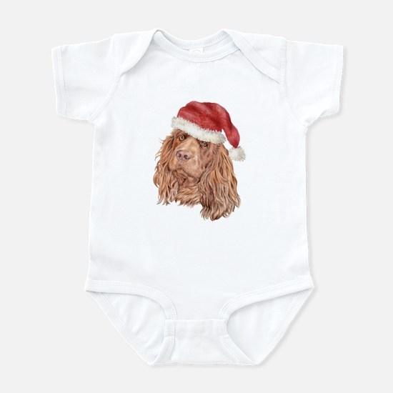 Christmas Sussex Spaniel Infant Bodysuit