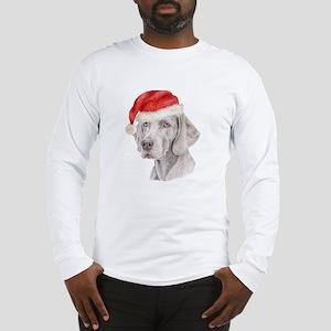 Christmas Weimaraner Long Sleeve T-Shirt
