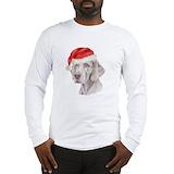 Christmas weimaraner Long Sleeve T-shirts