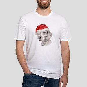 Christmas Weimaraner Fitted T-Shirt