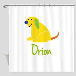 Orion Loves Puppies Shower Curtain