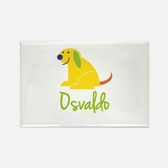 Osvaldo Loves Puppies Rectangle Magnet