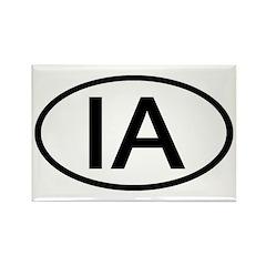 IA Oval - Iowa Rectangle Magnet