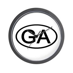 GA Oval - Georgia Wall Clock