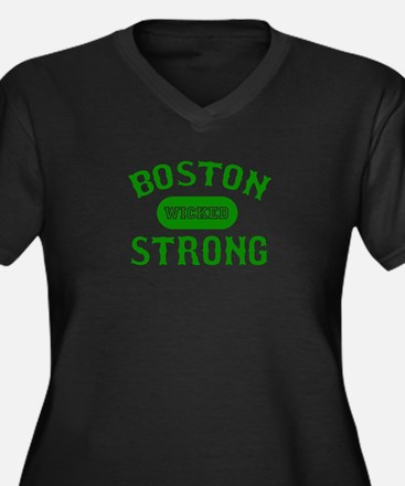 Boston Wicked Strong - Green Plus Size T-Shirt