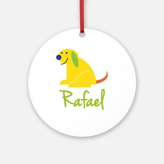 Rafael Loves Puppies Ornament (Round)