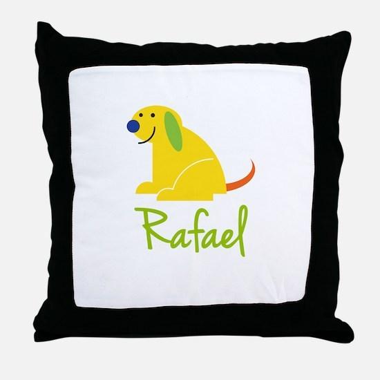 Rafael Loves Puppies Throw Pillow