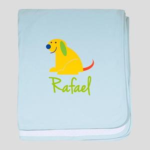 Rafael Loves Puppies baby blanket