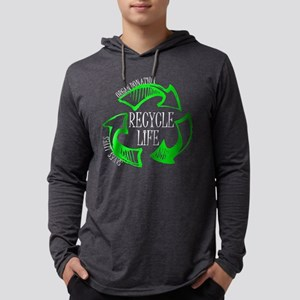 Recycle Life Mens Hooded Shirt
