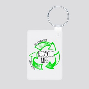 Recycle Life Aluminum Photo Keychain