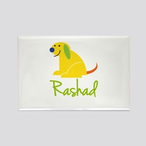 Rashad Loves Puppies Rectangle Magnet