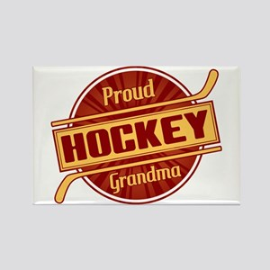 Proud Hockey Grandma Rectangle Magnet