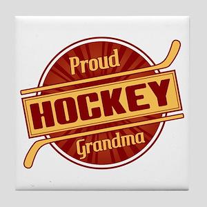 Proud Hockey Grandma Tile Coaster