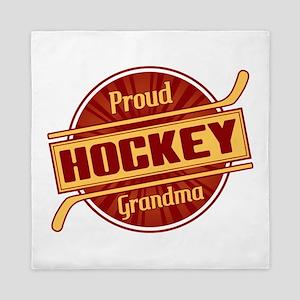 Proud Hockey Grandma Queen Duvet